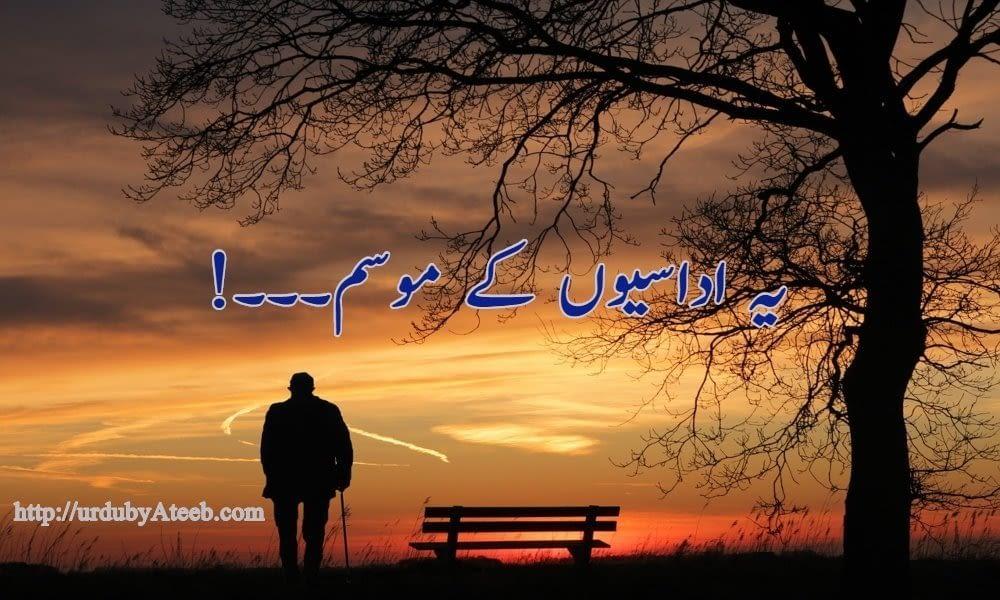 اداسی-sadness-urdu-poetry-pakistan-urdu-blog
